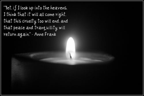 BLOG-ANNE FRANK CANDLE